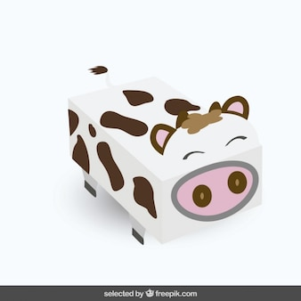 Funny squared cow