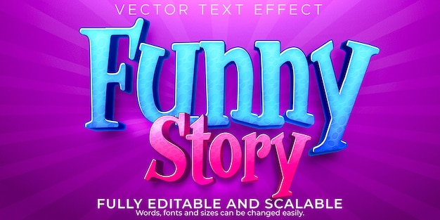 Funny story text effect editable cartoon and comic text style