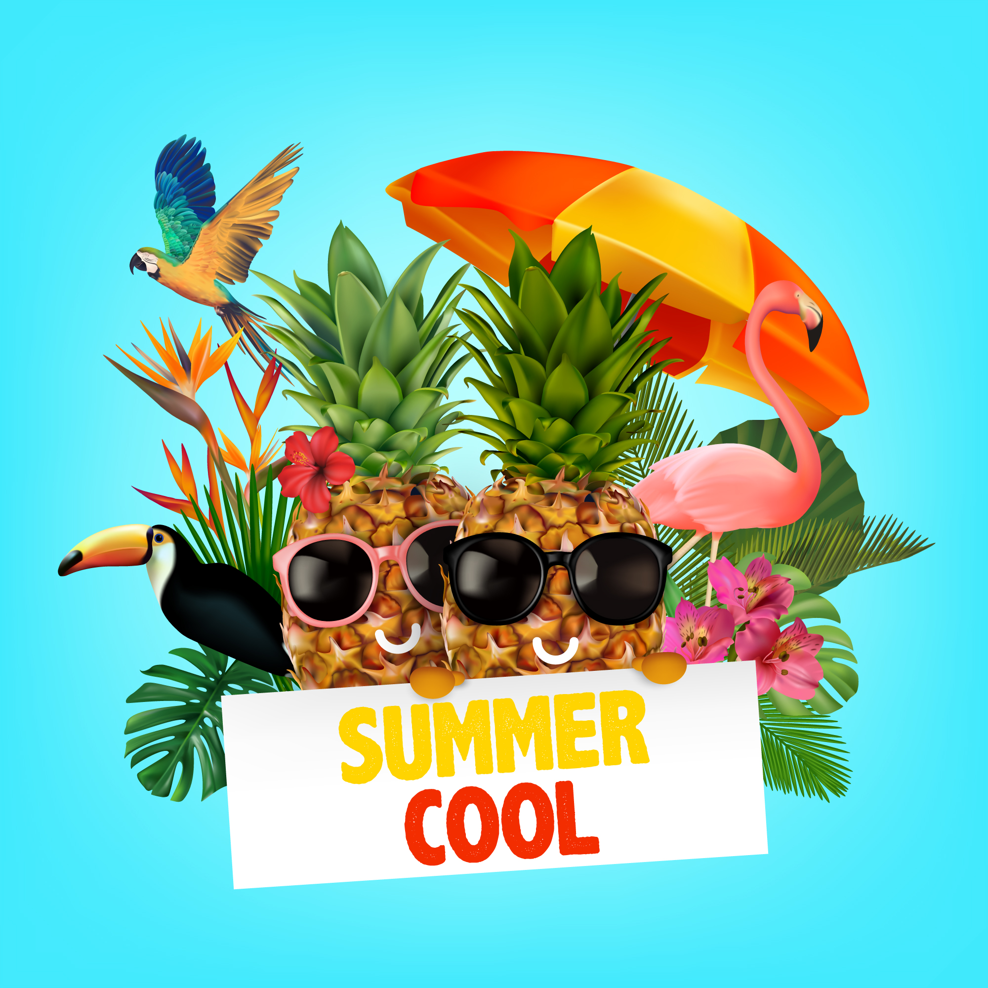 Funny summer background