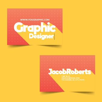 Funny template business card for graphic designer