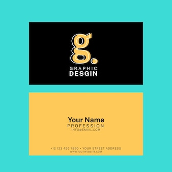 Funny template graphic designer business card