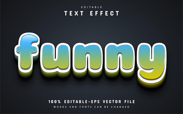 Funny text, cartoon style text effect