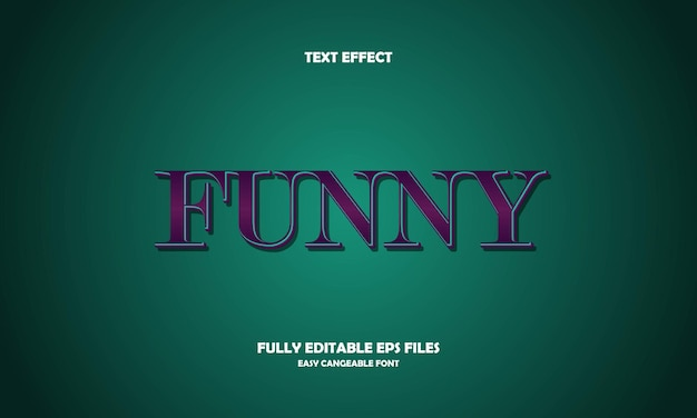 Funny text effect