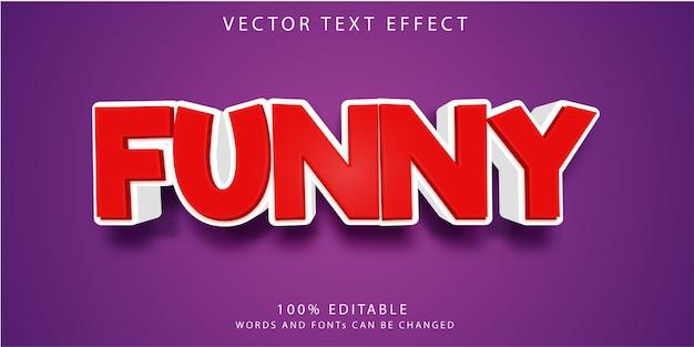 Шаблон стиля забавных текстовых эффектов