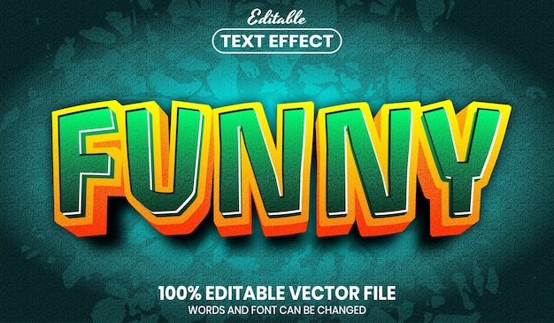 Funny text, font style editable text effect