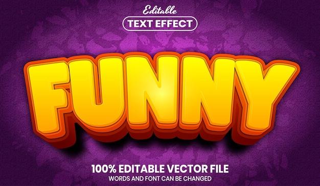 재미있는 텍스트, 글꼴 스타일 편집 가능한 텍스트 효과