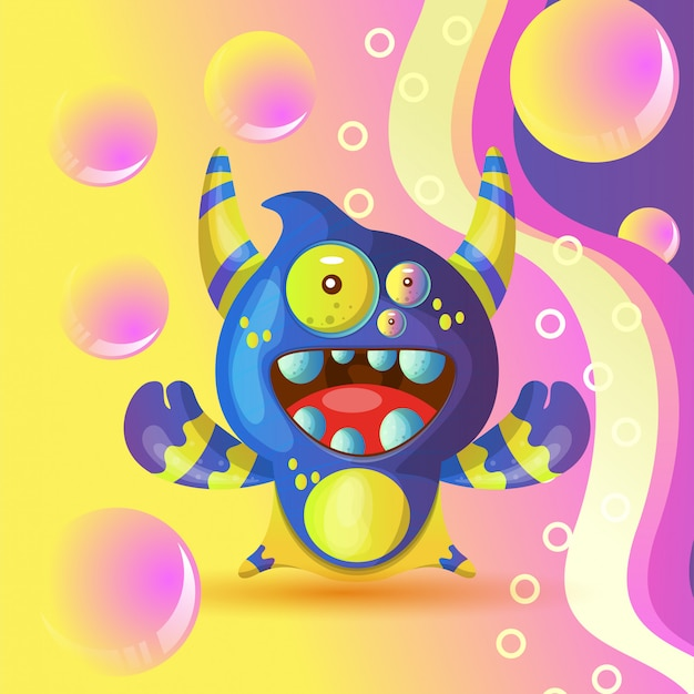 Funny vector monsters for t shirt