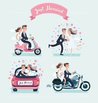재미있는 웨딩 커플