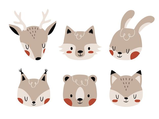 面白い森の動物セット