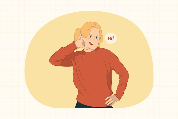 Funny young woman making phone gesture like says call me back concept