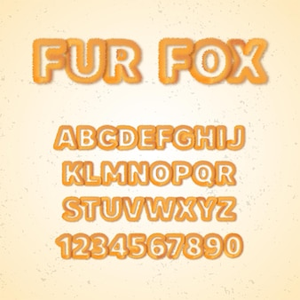 Fur fox alphabet fonts
