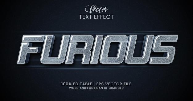 Яростный редактируемый текстовый эффект зерна текстуры стиля Premium векторы
