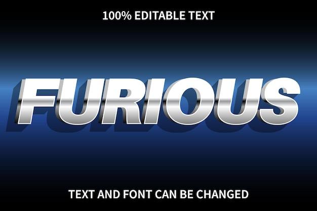 Furious editable text effect modern style