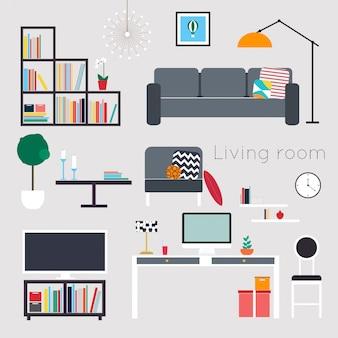 Мебель и аксессуары для дома, в том числе диваны, кресла, кресла, журнальный столик, тумбочки и предметы интерьера
