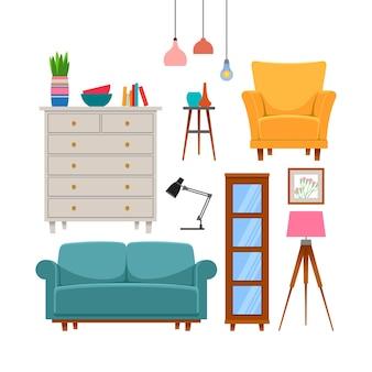 家具やホームアクセサリーセット。