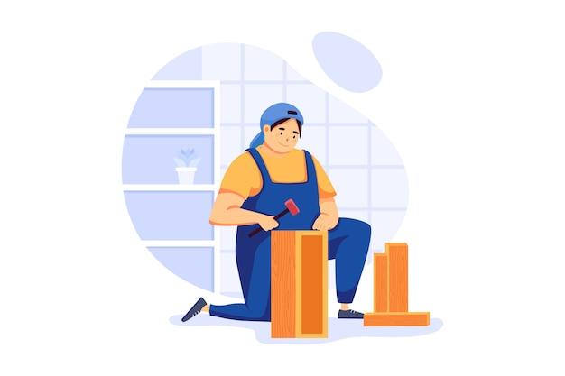 家具組立サービスイラストコンセプト