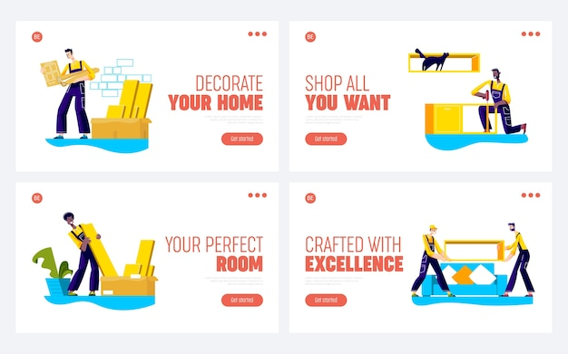 新会社ウェブサイトの家具組立サービスのランディングページ