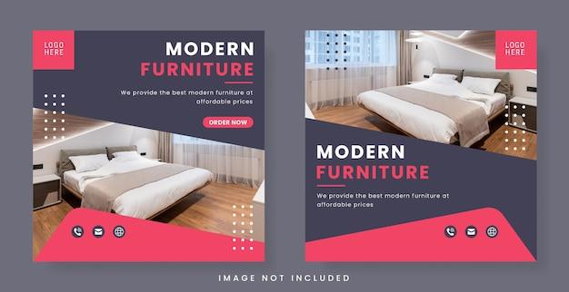 Furniture banner for social media post or flyer template