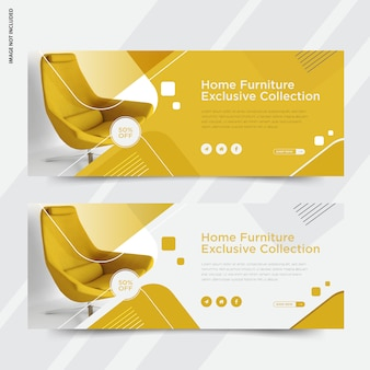 Furniture banner with text template