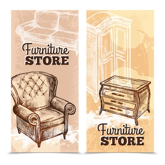 Furniture banners vertical