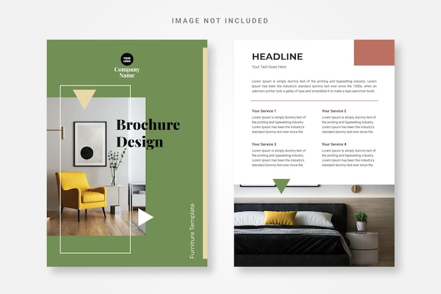 Furniture brochure design template