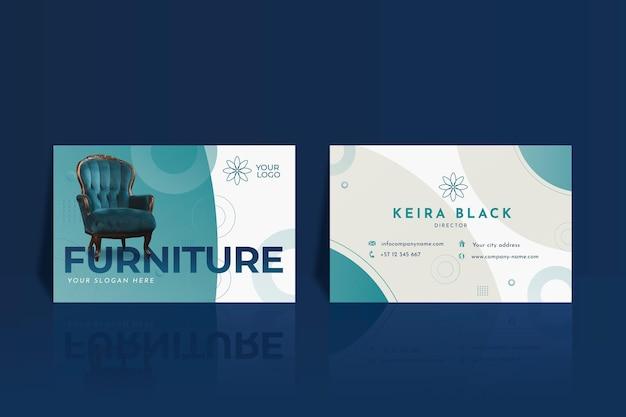 Furniture business card template