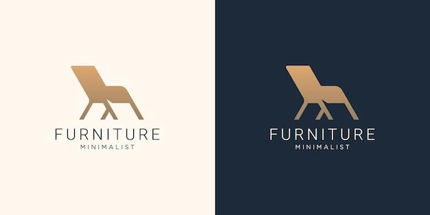 Furniture chair logo template. creative armchair style, interior, chair, furnishing,furniture store.
