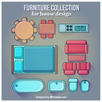 Furniture collection for house design