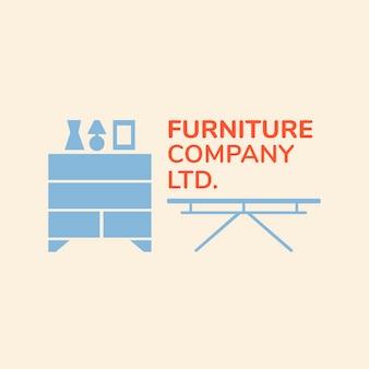 Furniture company logo, business template for branding design xx, home interior