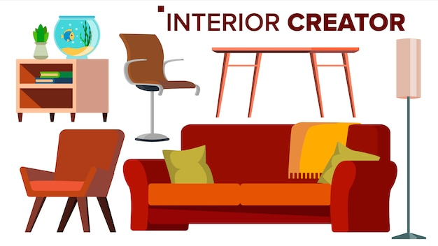 Furniture creator vector.