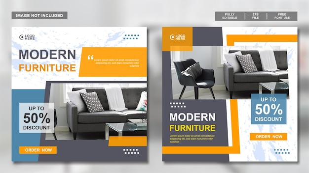 Шаблон для сбора сообщений social meda о дизайне мебели