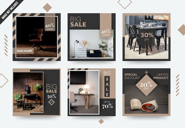 Furniture elegant social media post template