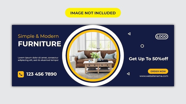Шаблон обложки facebook для мебели