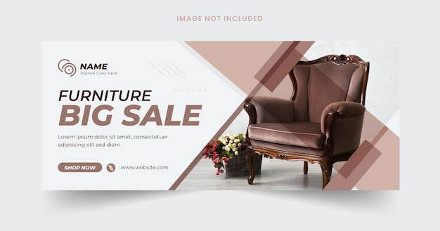 Furniture facebook cover page and web banner design