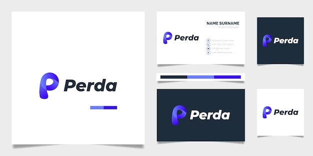 Furniture gradient abstract logo template