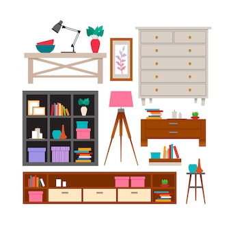 Furniture and home accessories set.