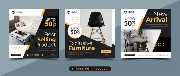 Furniture and home decor social media post template