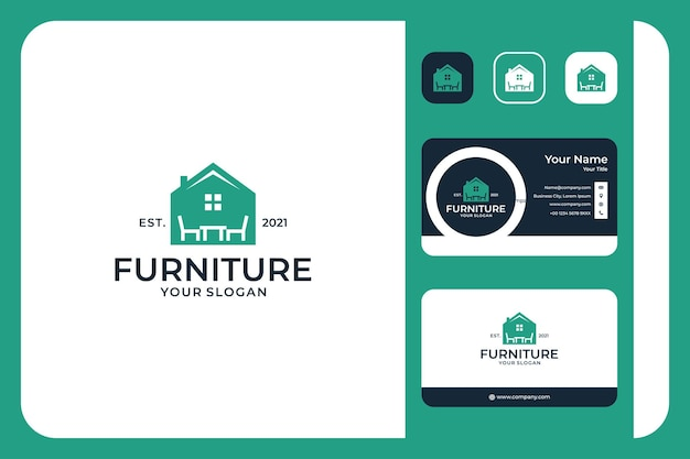 Furniture home logo design and business card