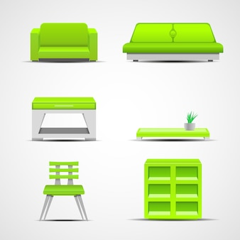Furniture icons. graphic concept for your design illustration