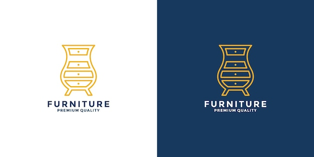 Furniture idea logo design for your business property, interior, real estate, renovation etc