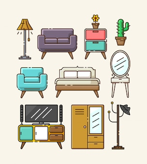 家具イラストセット