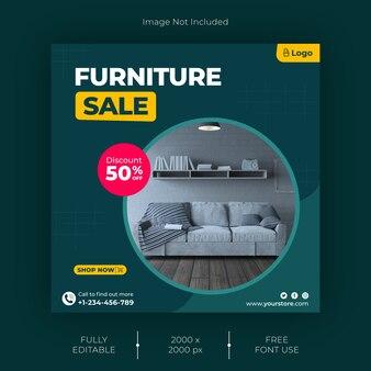 Furniture instagram post template