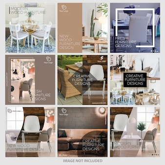 Furniture instagram post templates