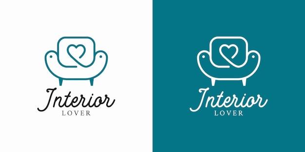 Furniture and interior design logo concept