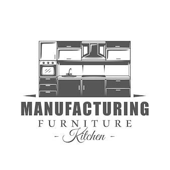 Furniture label on white