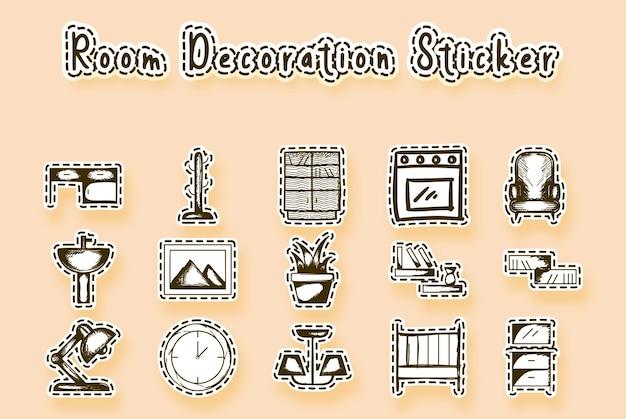 Furniture line doodle art
