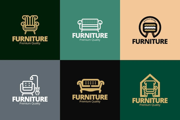 Furniture logo collection concept