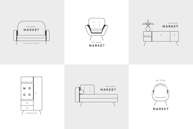 Furniture logo collection design