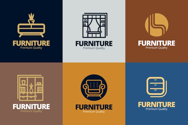 Furniture logo collection