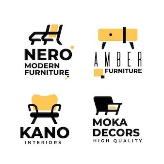 Collezione di logo di mobili